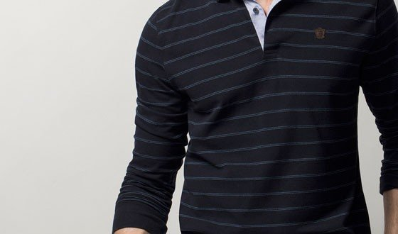 bluza polo maneca lunga dungi