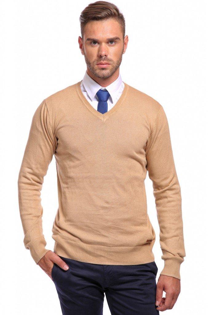 pulover cu camasa si cravata