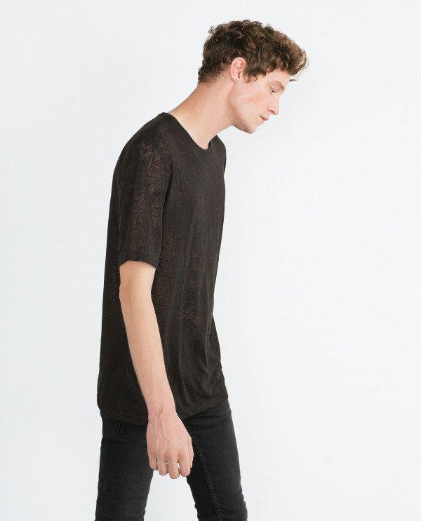 tricou negru larg