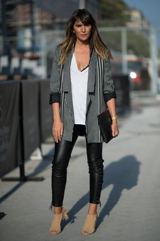 pantaloni piele+botine maro