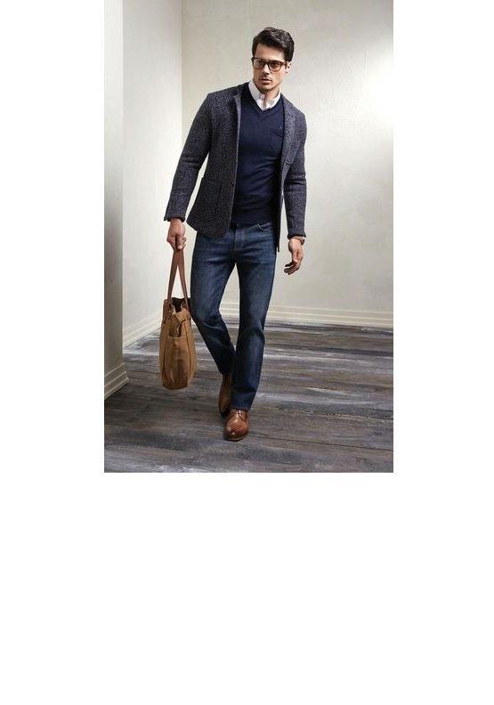 blazer+pulover bleumarin