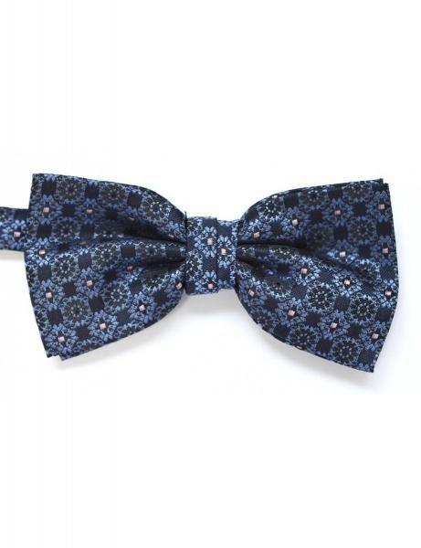 papion-albastru-cu-imprimeu-floral-zega-1