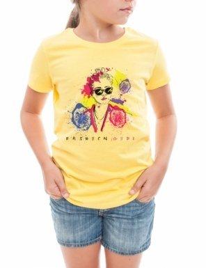 tricou-fashion-girl-maize-yellow-trendzilla