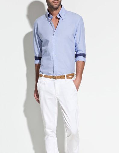 camasa albastra barbati
