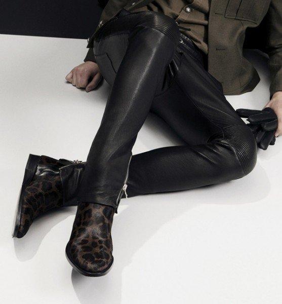 pantaloni de piele