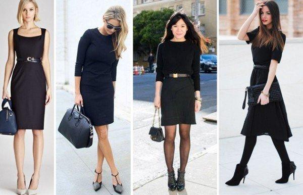 femei purtand negru