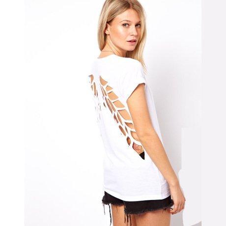 tricou alb femei