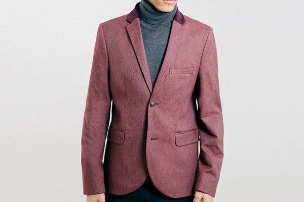 Blazer Topman Burgundia blazer