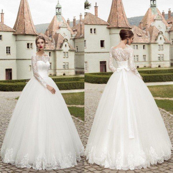 rochie de mireasa cu maneci1