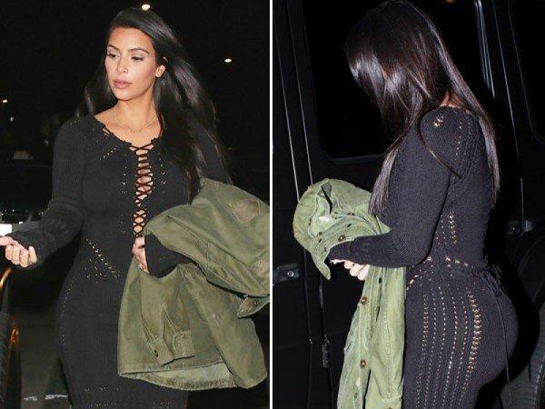 Kim Kardashian fusta dantela