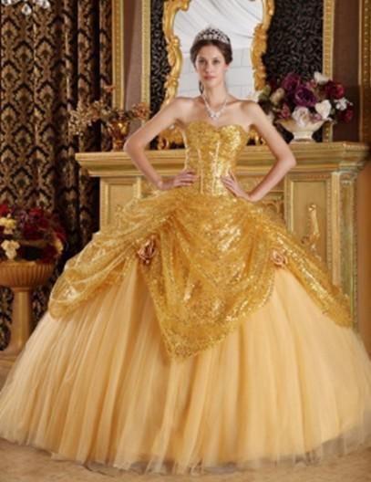 rochie galbena de bal 22