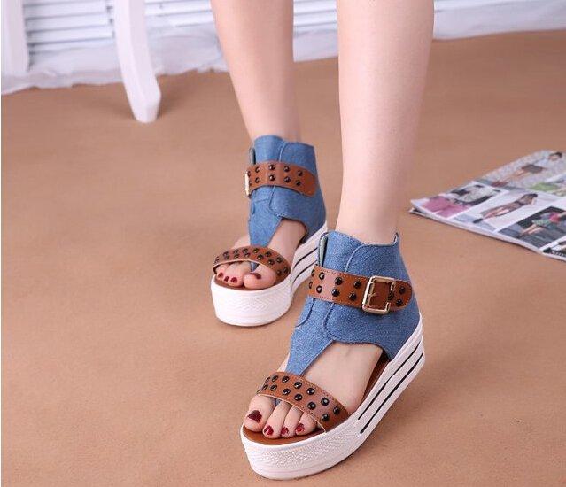 sandale denim