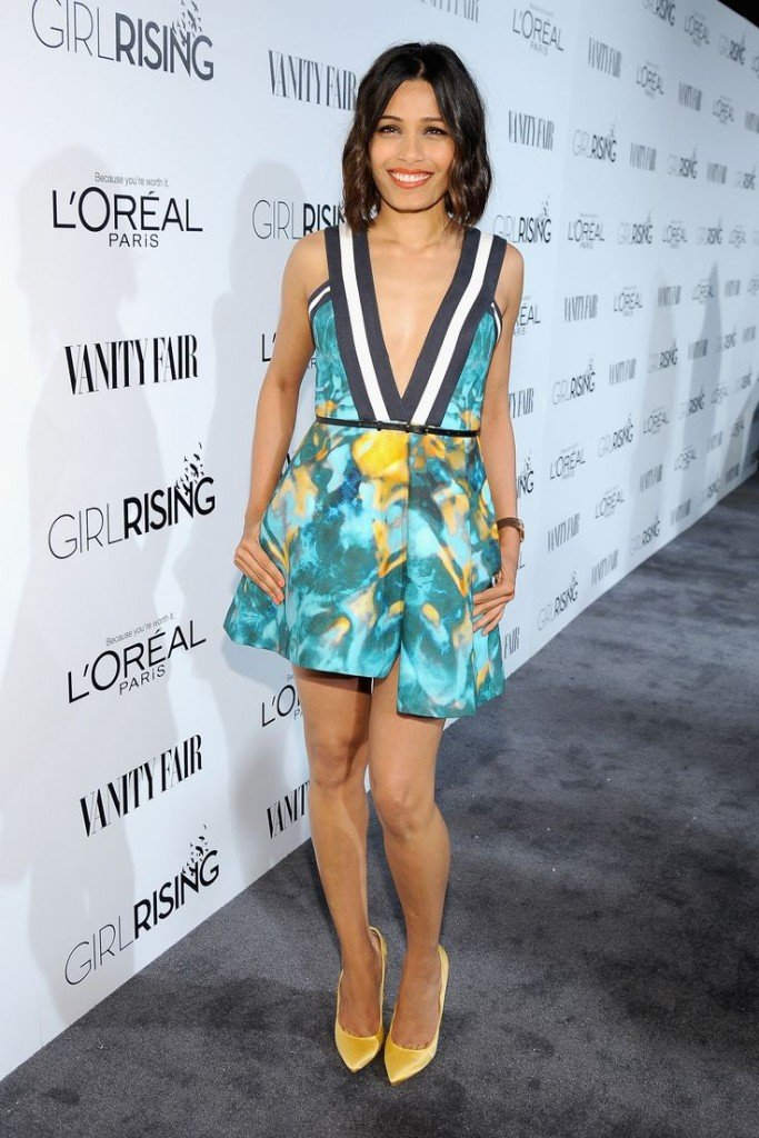 attends VANITY FAIR and L'Oreal Paris D.J. Night hosted by Freida Pinto to benefit Girl Rising at 1OAK on February 20, 2015 in Los Angeles, California.