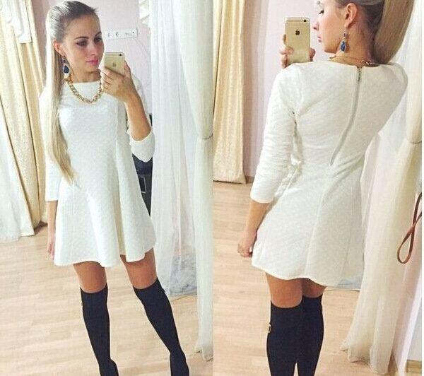 cum sa porti o rochie alba iarna1