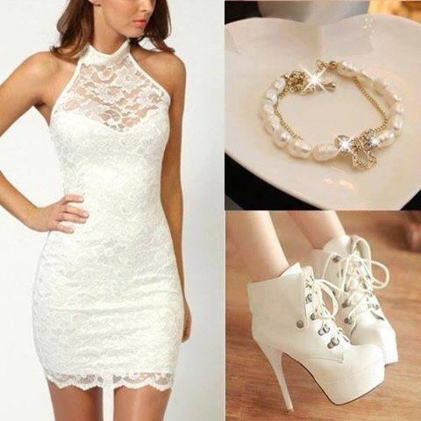 pantofi pentru rochie alba