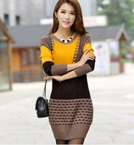 Cum să porți rochia-pulover2