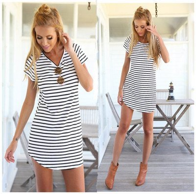 Modele rochii cu dungi care se poartă3