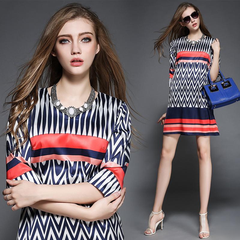 Modele rochii cu dungi care se poartă5