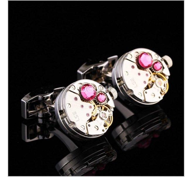 butoni cristal roz