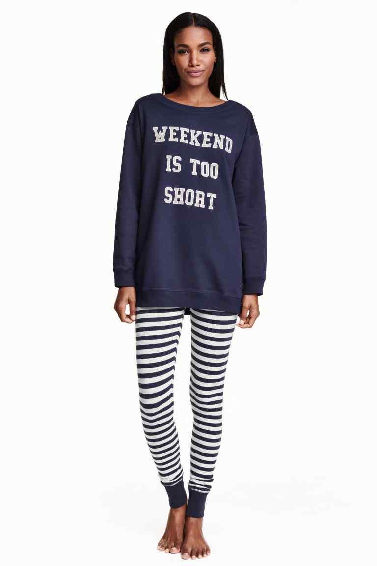 pijama cu bluza molton