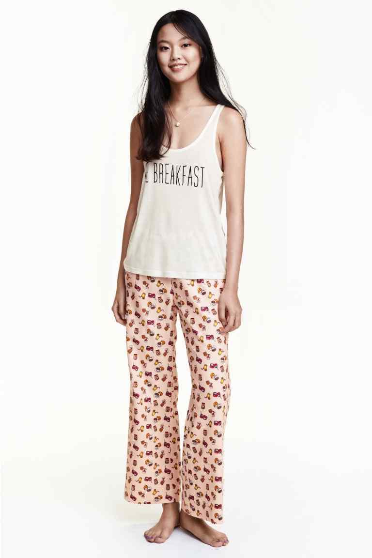 pijama cu pantaloni flanel