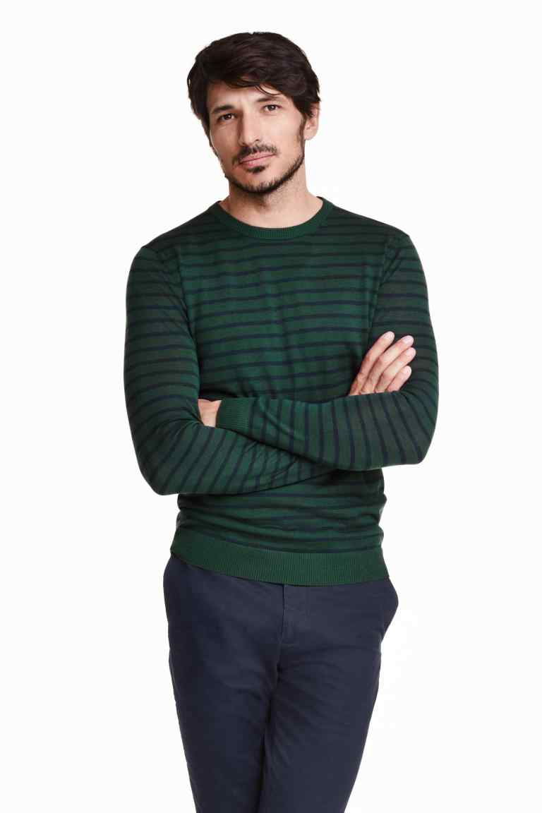 pulover lana verde