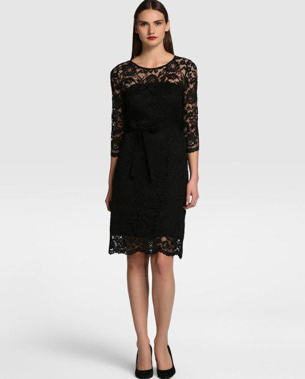 rochie de dantela neagra