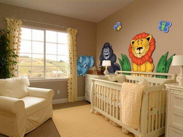 camera bebe in colori pastel