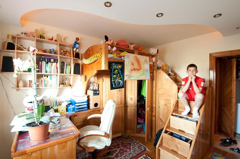 mobila copii lemn masiv