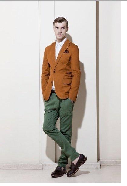 pantaloni barbati verzi zara