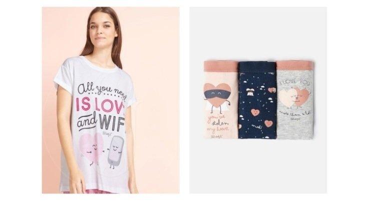 pijamale cu ilustratii oysho