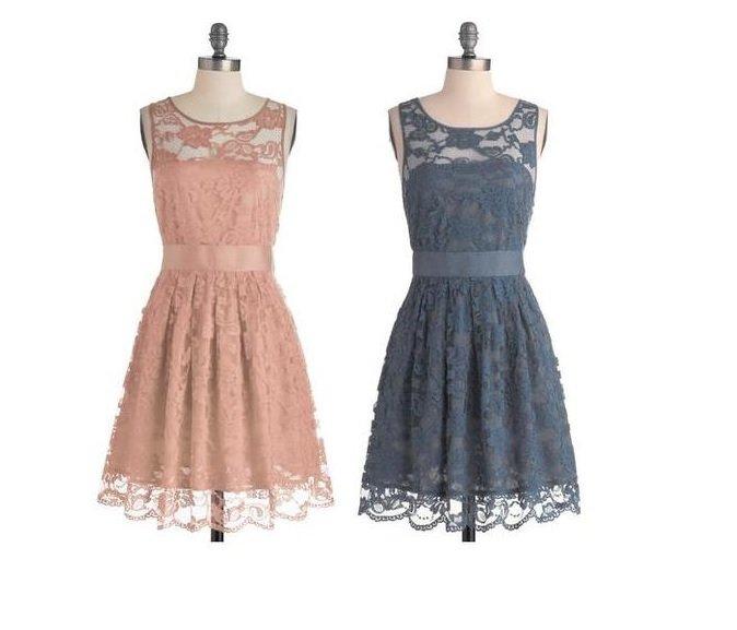 rochii pastel din dantela