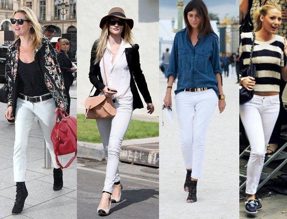blugi albi la moda