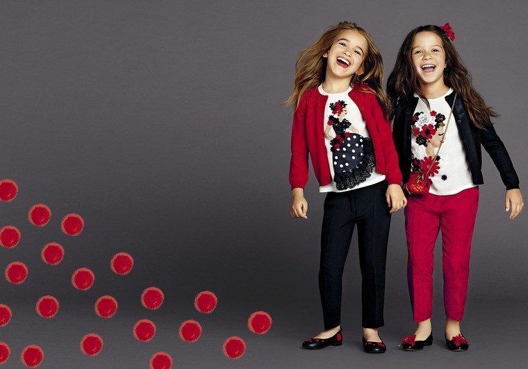d&g pantaloni rosii fetite
