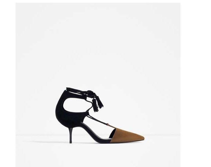 pantofi bicolori zara