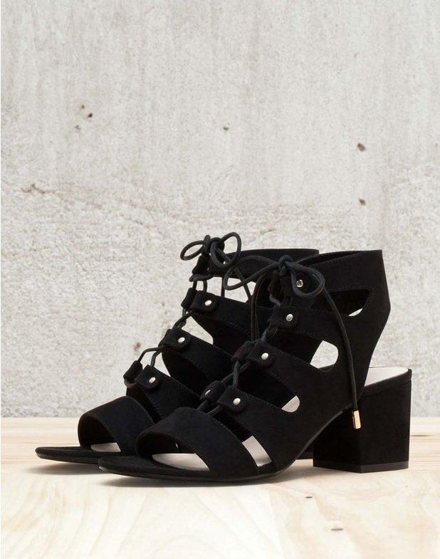 pantofi peeptoe bershka