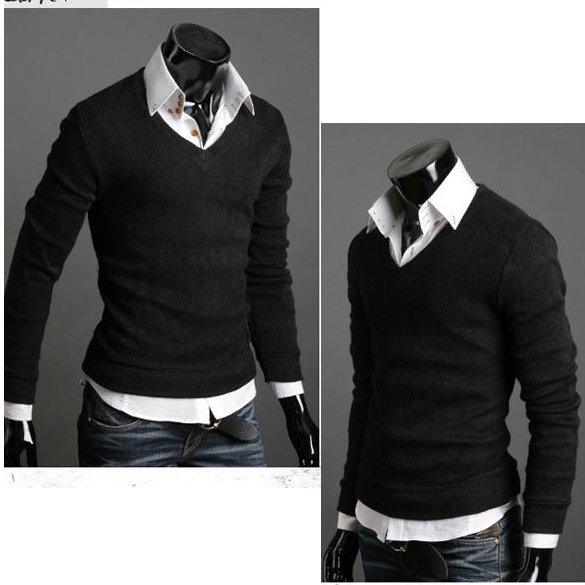 pulover guleer in v