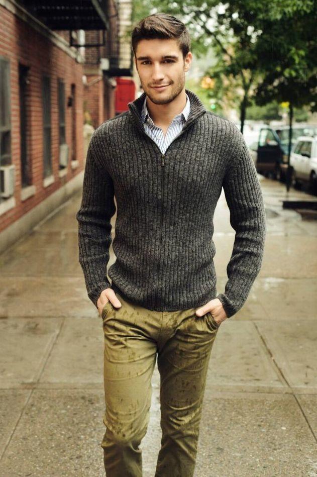 pulover guler polo barbati
