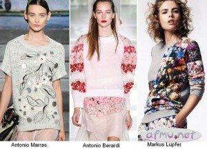 pulovere imprimeuri florale