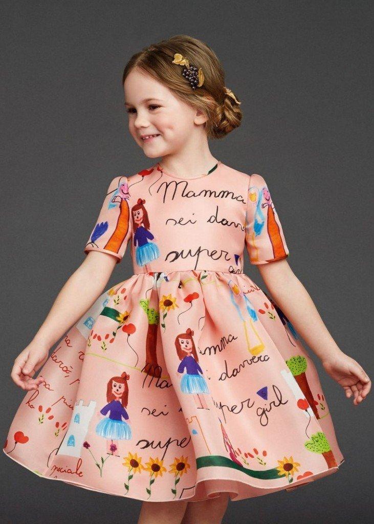 rochie imprimeu original d&g fete