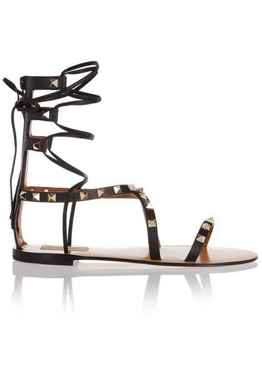 sandale cu tinte valentino