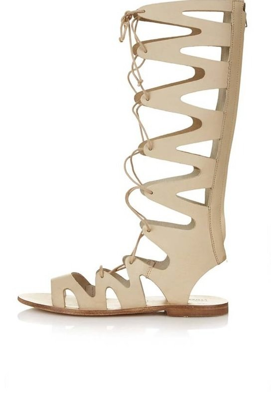 sandale nude topshop