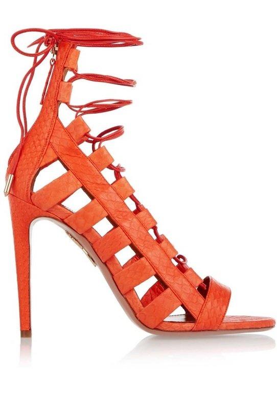 sandale portocalii aquazzura