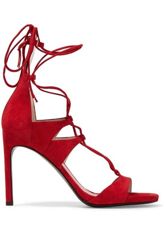 sandale rosii stuart weitzman
