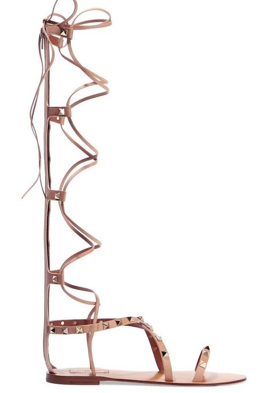 sandale sireturi valentino