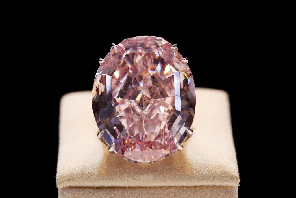 inel diamant pink star