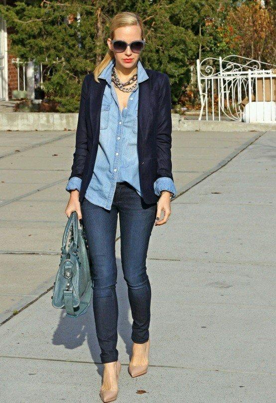 blazer albastru