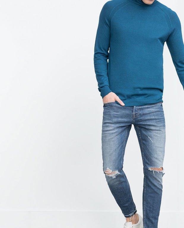 blugi albastri barbati