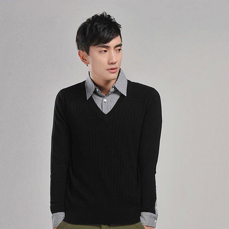 pulover in v+camasa