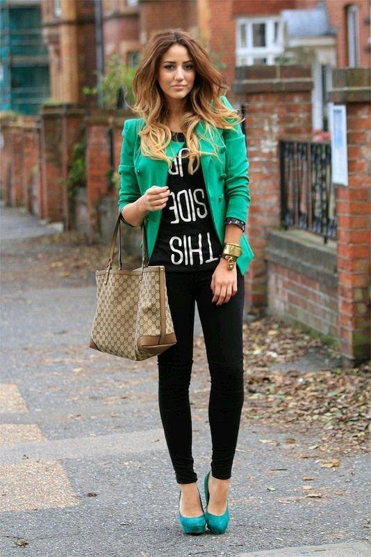 tinuta rock+sacou verde